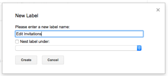 Create new label
